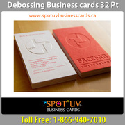 Debossed Business Cards: That Adds A Professional And Artistic Appeal