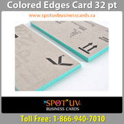 Colored Edge Business Cards By Spot UV