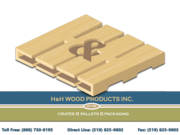 H & H wood products,  Pallets,  Crates,  Skids,  Boxes,  Racks,  Spools