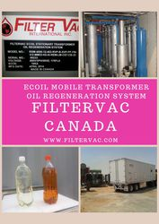 Transformer oil regeneration system  Oil Purifier   Filtervac Canada