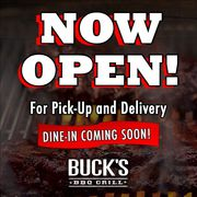 BUCK'S BBQ GRILL - NOW OPEN!!!