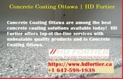 Concrete Coating Ottawa | HD Fortier